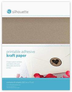 Zelfklevend Kraft Papier SILHOUETTE