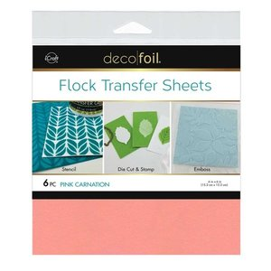 Pink Carnation - Flock Transfer Sheets