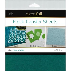 Teal Waters - Flock Transfer Sheets