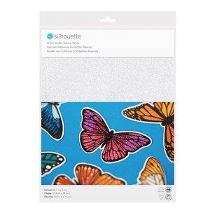 Printbaar Glitter Stickerpapier Wit SILHOUETTE