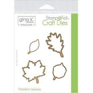 Thankful Leaves - Die Set Gina K Designs