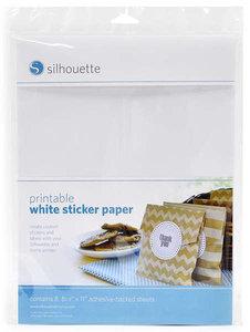 Witte Stickervellen SILHOUETTE