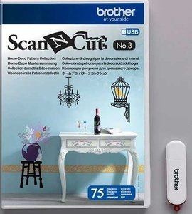 Brother ScanNCut USB N°3 Woondecoratie collectie