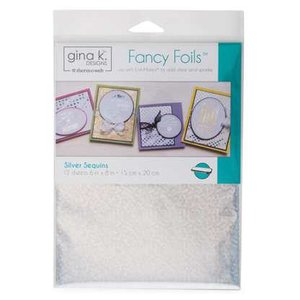 Silver Sequins - Gina K. Designs Fancy Foils