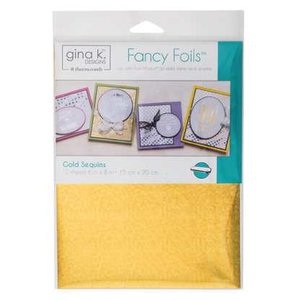 Gold Sequins - Gina K. Designs Fancy Foils