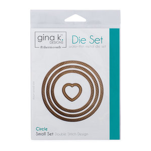 Gina K. Designs (3) Nested Circle Dies • Double Stitch Design • Small Set