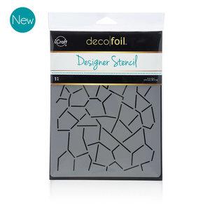 Crackle Stencil - iCraft Deco Foil