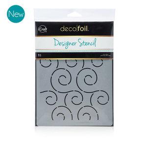 Swirls Stencil - iCraft Deco Foil