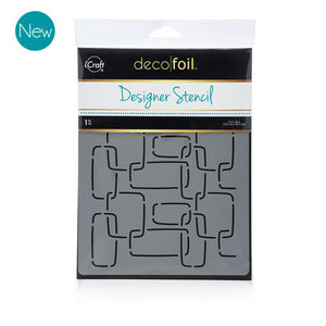 Modern Links Stencil - iCraft Deco Foil