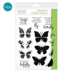 Butterfly Kisses - StampnFoil Stamp Set Gina K Designs