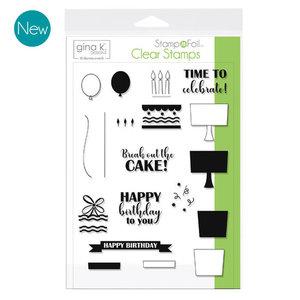 Time To Celebrate - StampnFoil Stamp Set Gina K Designs