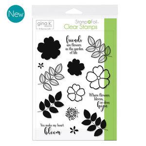 Where Flowers Bloom - StampnFoil Stamp Set Gina K Designs