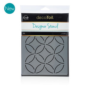 Abstract Circles Stencil - iCraft Deco Foil