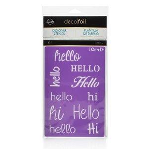 Hello Stencil - iCraft Deco Foil