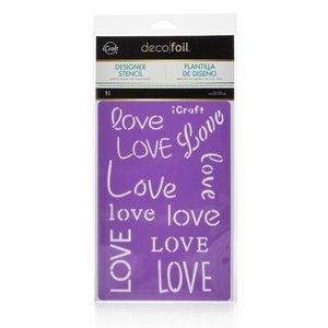 Love Stencil - iCraft Deco Foil