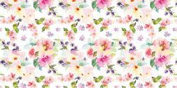 Watercolor Floral - Deco Vinyl - DCWV