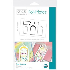 Tag Borders - Gina K. Designs Foil-Mates Backgrounds