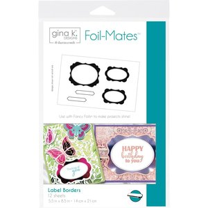 Label Borders - Gina K. Designs Foil-Mates Backgrounds