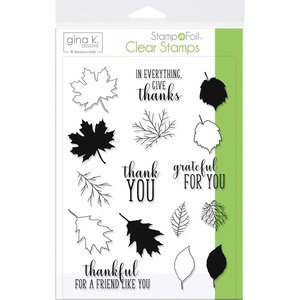 Thankful Leaves - Clear Stamps Gina K Designs