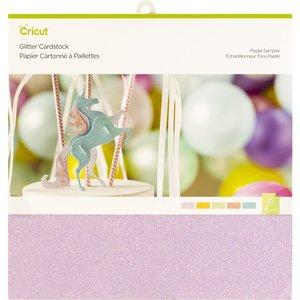 Glitter Cardstock - Pastel kleuren
