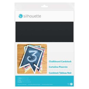 Krijtbord - Zelfklevend Karton SILHOUETTE