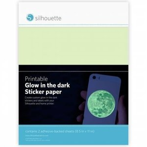 Glow-In-The-Dark Printbare Stickervellen SILHOUETTE