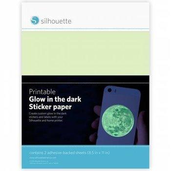 Glow-In-The-Dark Printbare Stickervellen SILHOUETTE