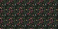 Dark Mini Floral - Deco Vinyl - DCWV