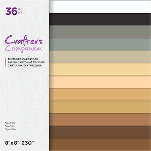Neutrals Textured Cardstock 20x20cm - Crafter's Companion