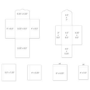Pocket and Flipfold Inserts E - White